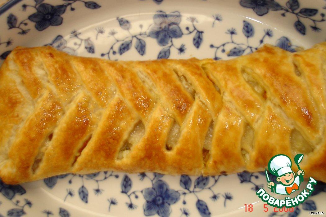 Открытый пирог из дрожжевого теста с мясом и картошкой рецепт119