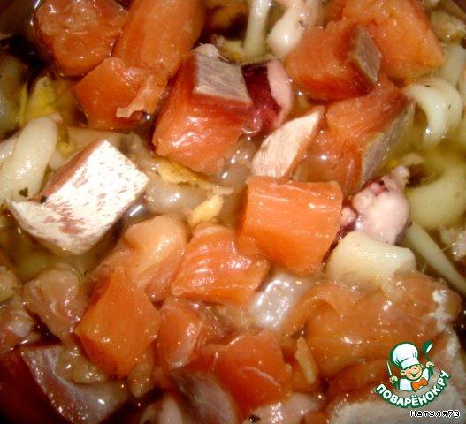 Суп Морской коктейль из морепродуктов рецепт с фото ...