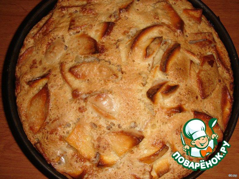 Шарлотка с яблоками рецепт в духовке поваренок
