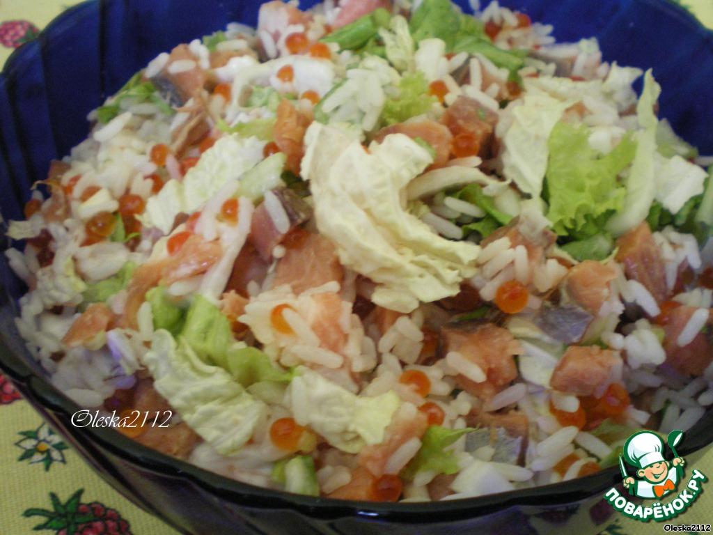 Салат к отварной рыбе рецепт