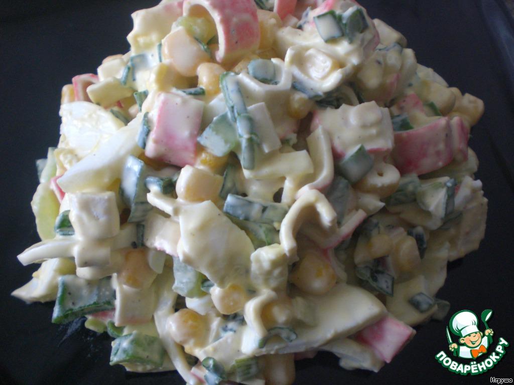 Салат весенний с крабовыми палочками