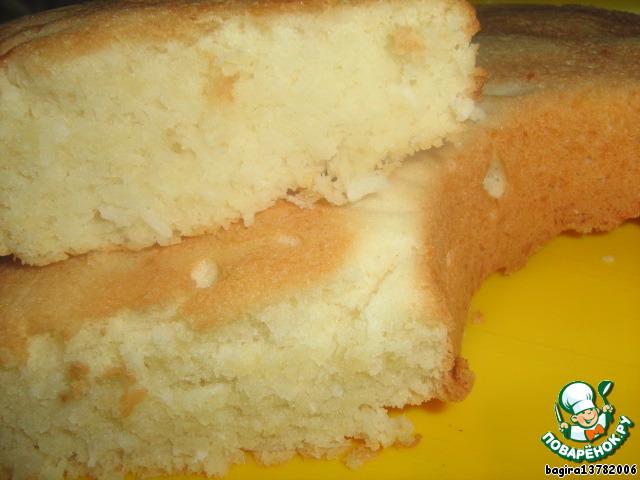 Кокосовый пирог рецепт с фото пошагово