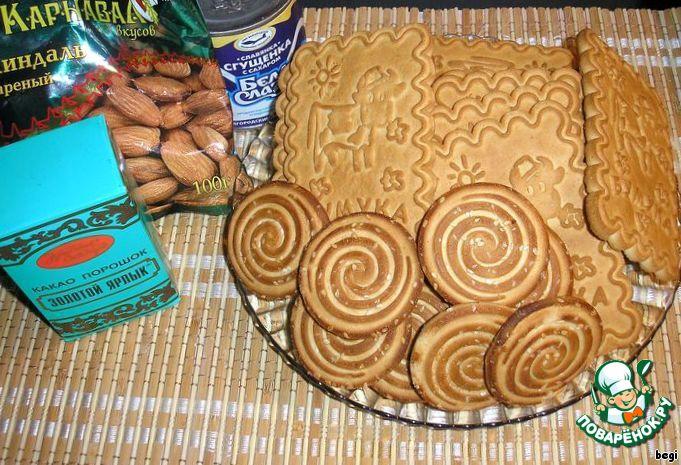 Торт полено рецепт печенье