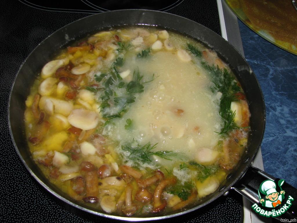 молочный суп из белых грибов рецепт