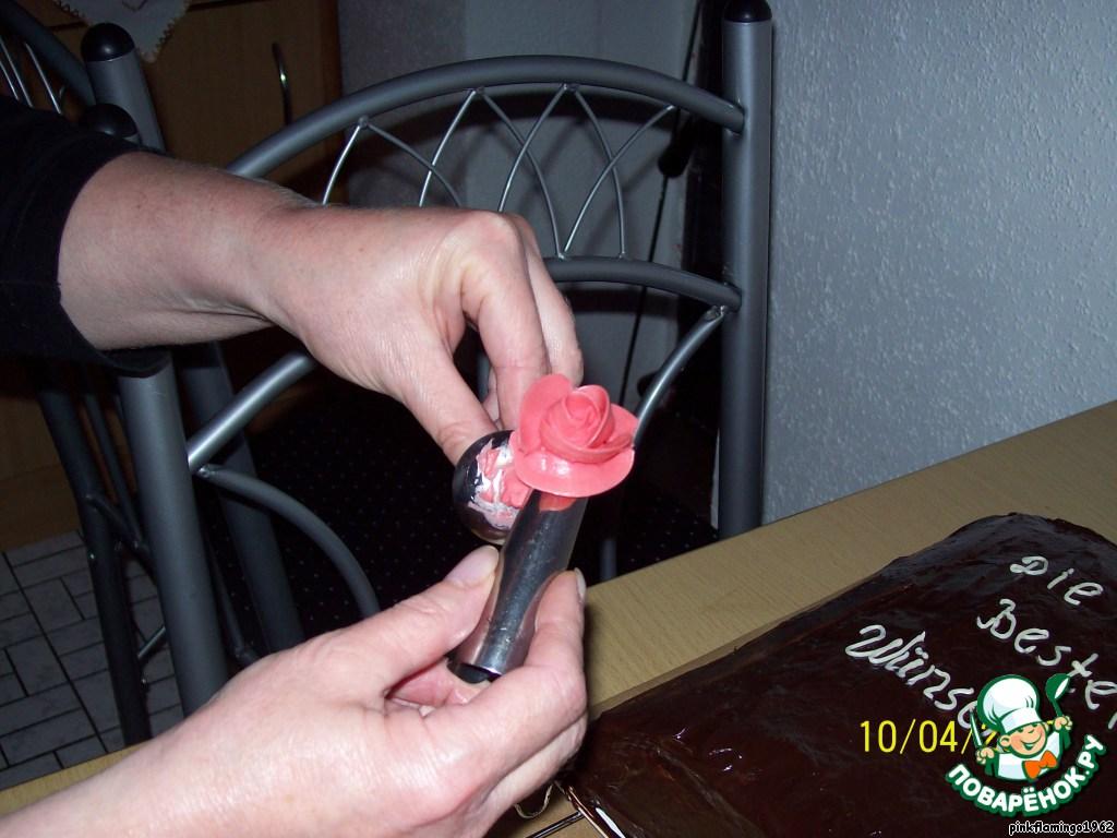 Как сделать розы для торта если нет шприца