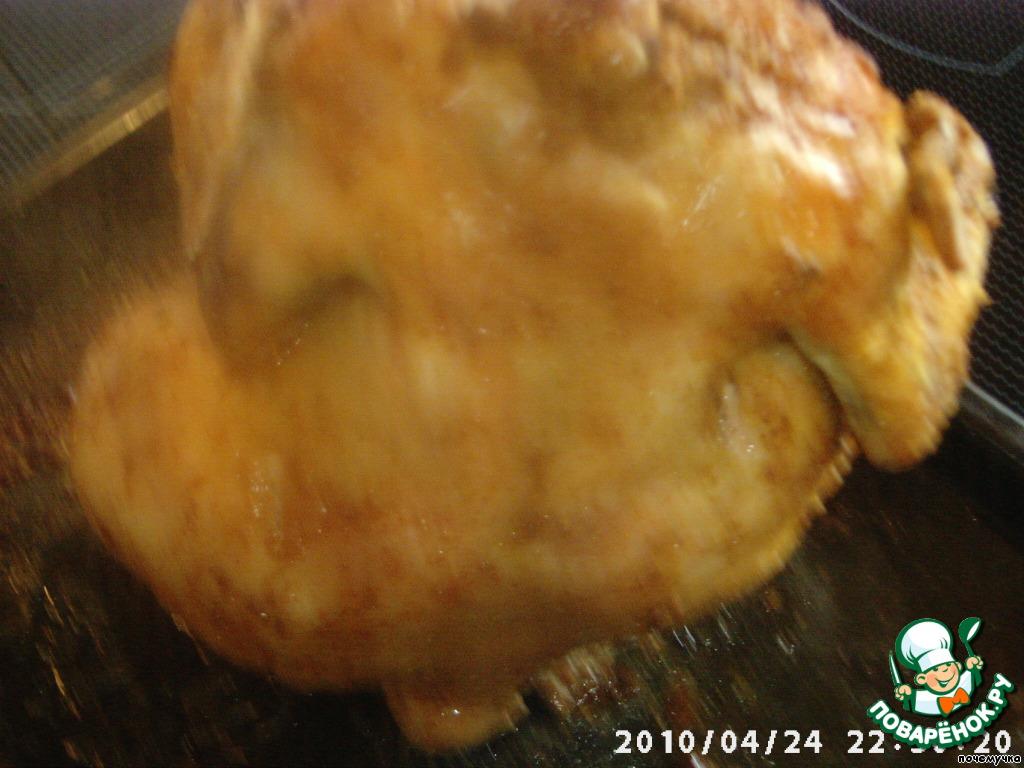 Как приготовить курицу на бутылке в духовке рецепт с пошаговый рецепт