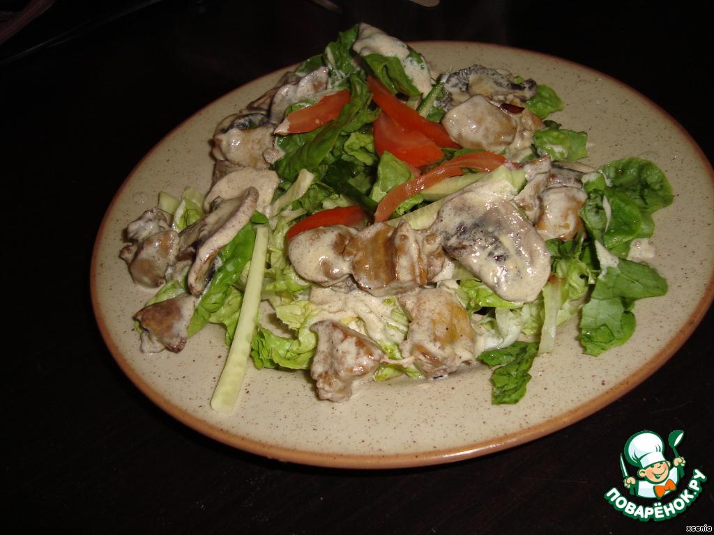 Теплый салат с куриной печенью рецепты