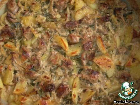 печень куриная с картошкой в духовке рецепты с фото