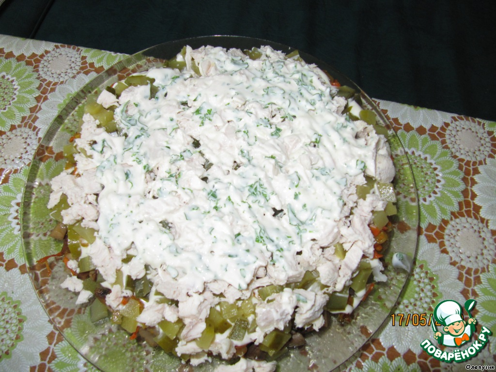 Рецепт простых и сытных салатов с