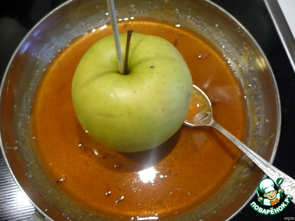 рецепт яблоки в карамели молоко сахар