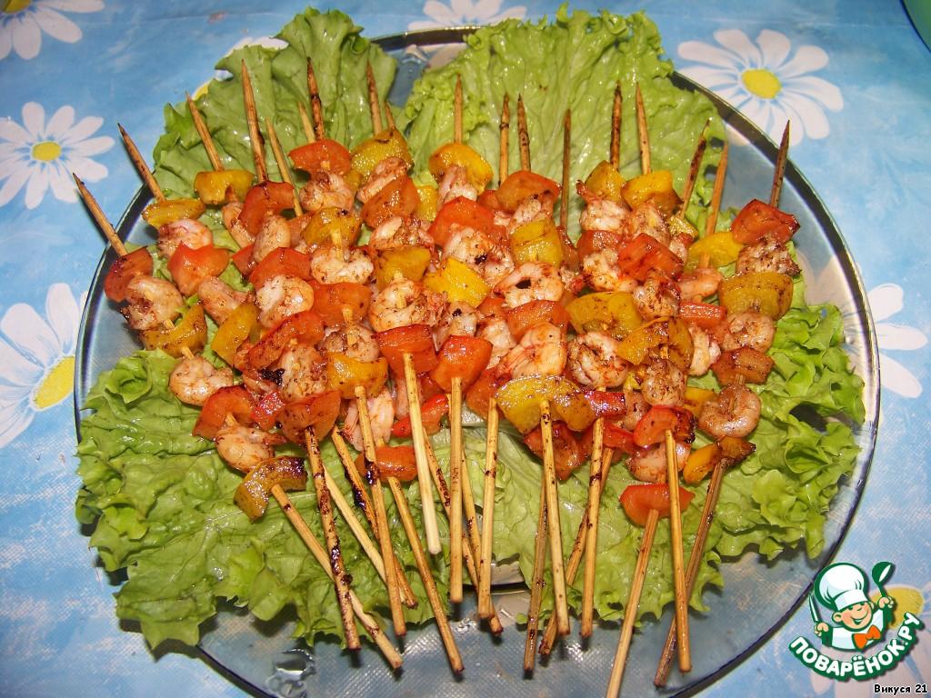 креветки на шпажках рецепты с фото