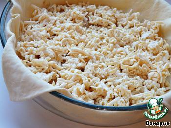 пирог с луком и яйцом в духовке рецепт слоеное тесто