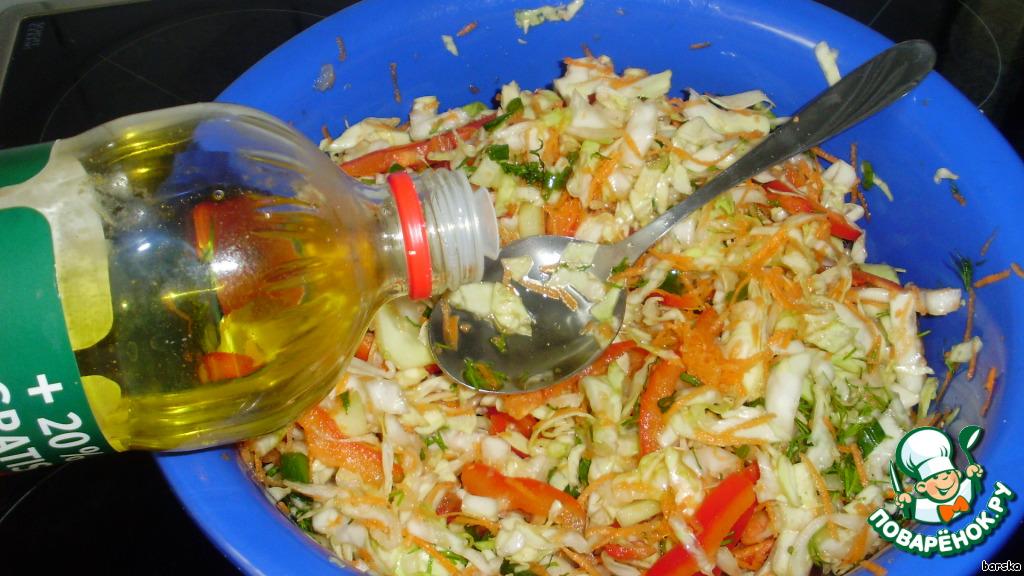 Салат из свежей капусты с уксусом рецепт пошагово