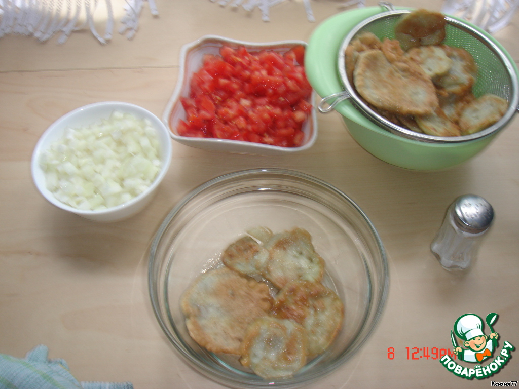 Рецепт салата баклажаны яйца лук