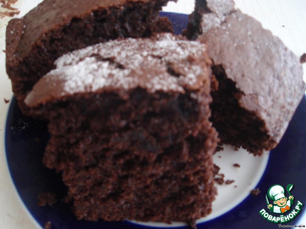 бисквит шоколад на кипятке рецепт с фото