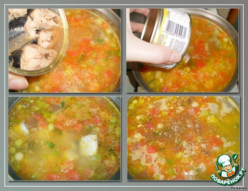 Рецепт суп из консервы с сайрой