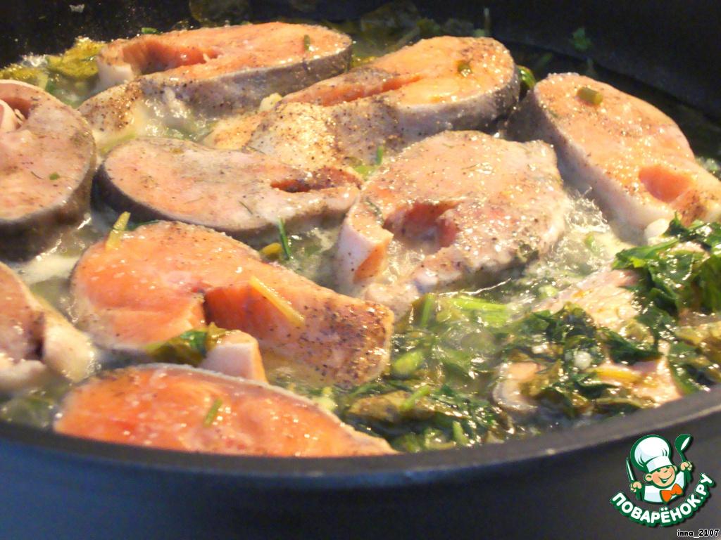 Рецепт красной рыбы в духовке со сливками