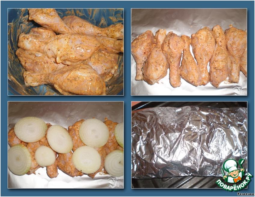 Куриные голени с картофелем в микроволновке рецепт