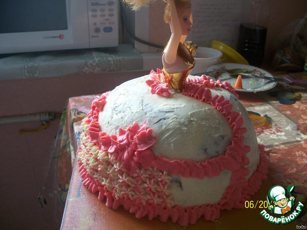 Как сделать торт куклу  видео 3