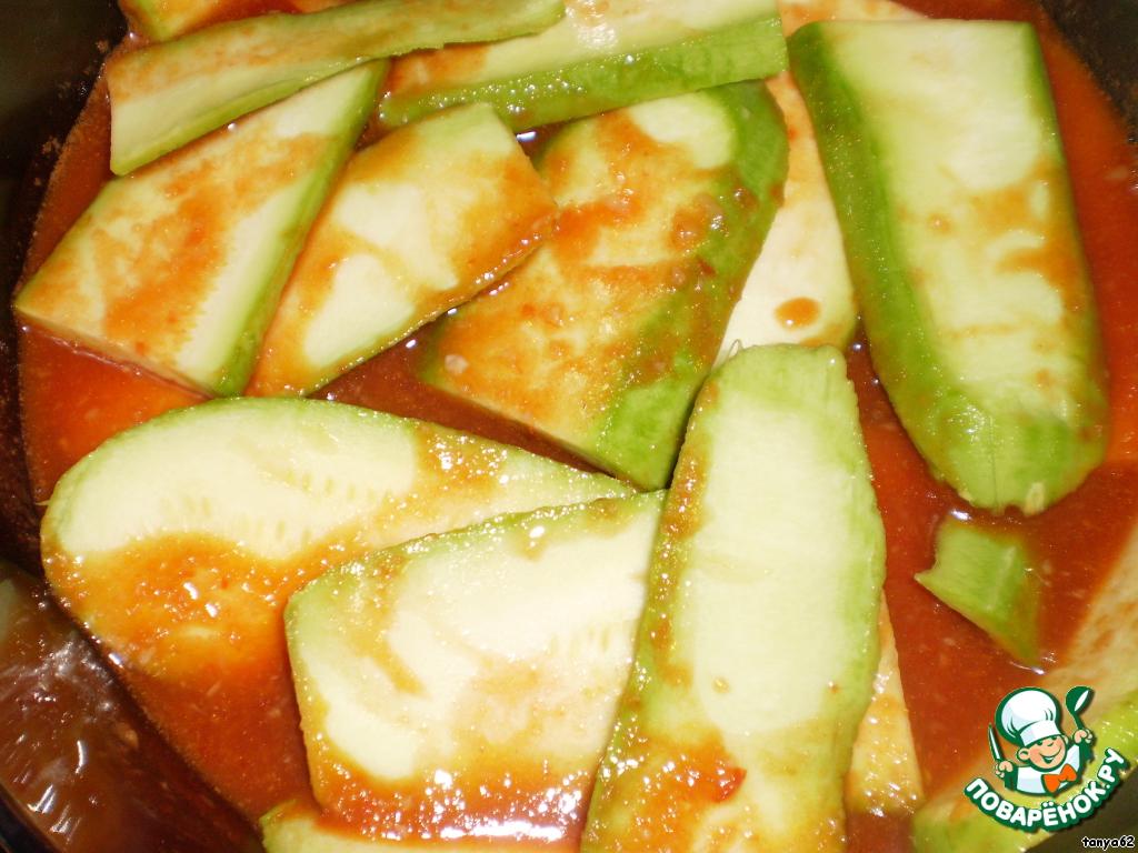 тещин язык из кабачков рецепт с фото на зиму