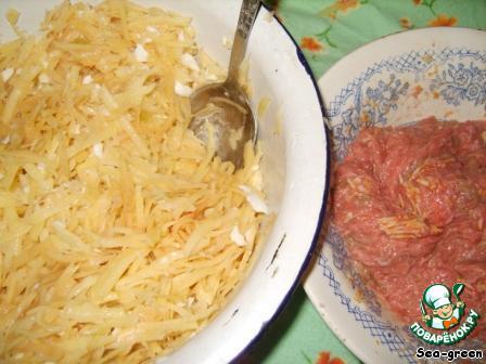 Запеканка из куриного фарша с картофелем