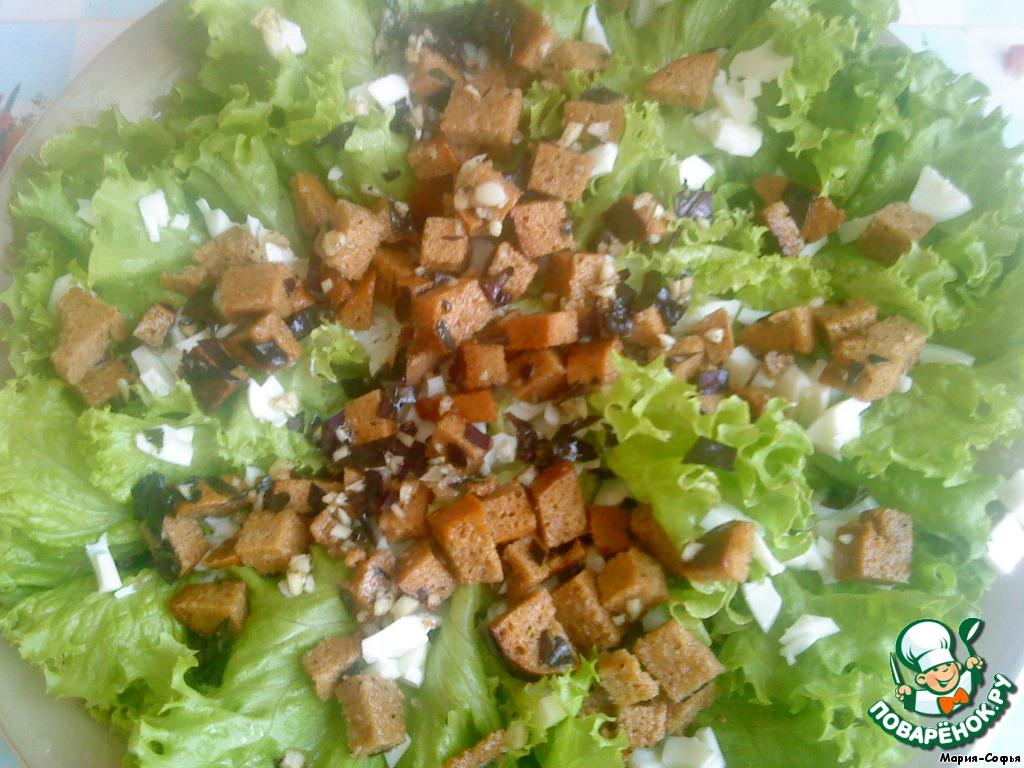 Салаты с хлебом рецепты с