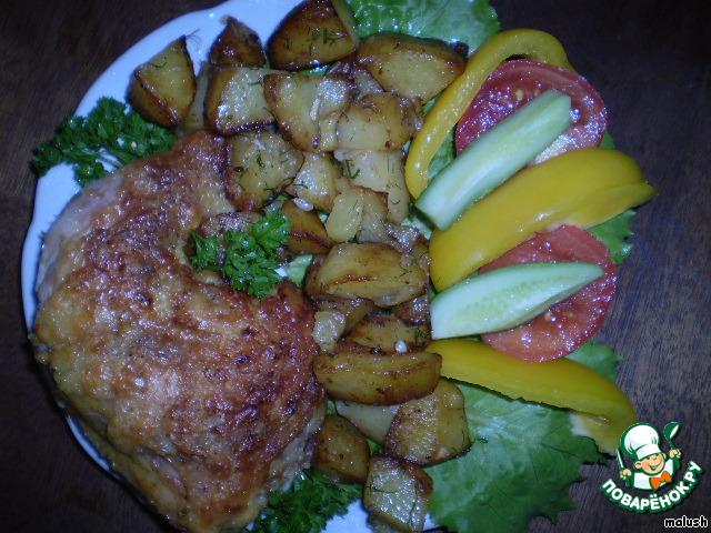 Окорочка в духовке с картошкой и помидорами в духовке рецепт