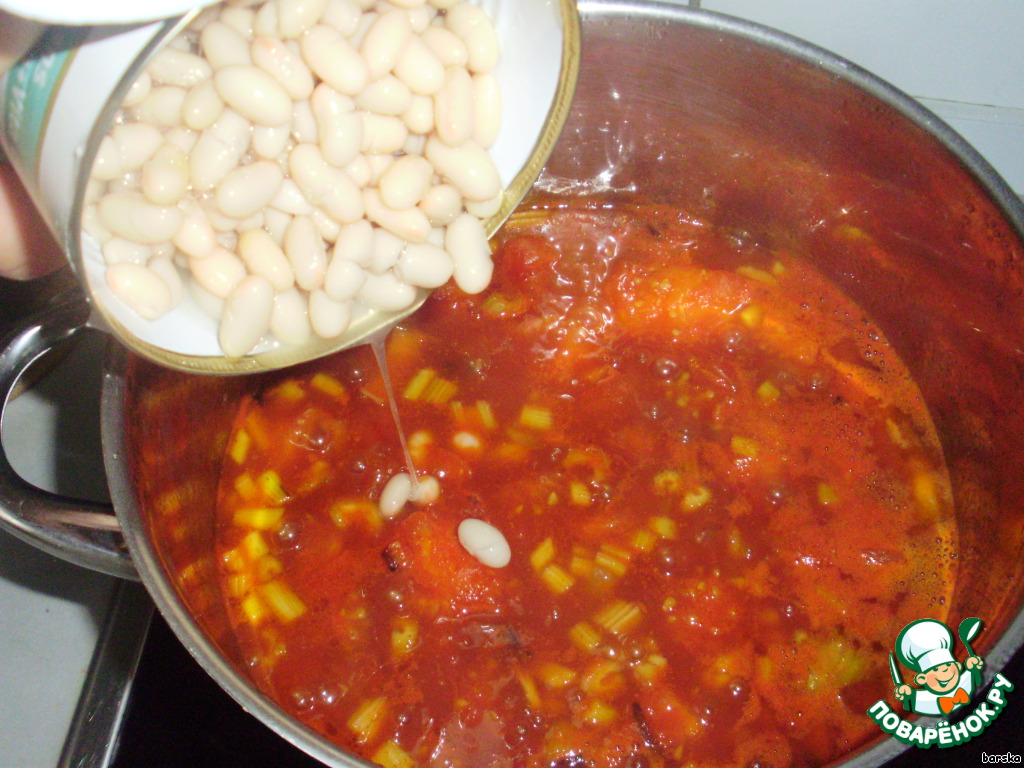суп из фасоли консервированной рецепт с фото
