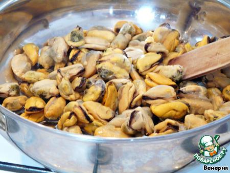 рецепт макароны с мидиями в сливочном соусе
