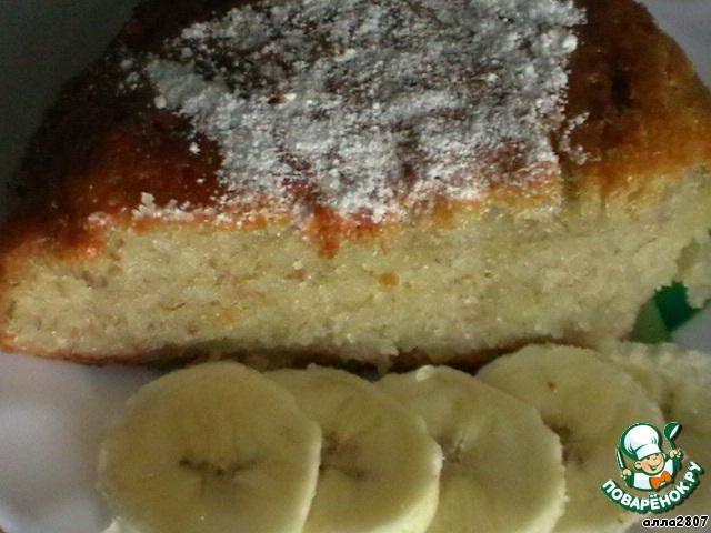 Пирог с бананом пошаговый рецепт с фото