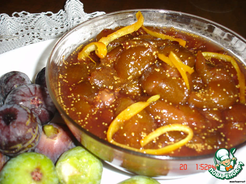 варенье из инжира. рецепт с фото