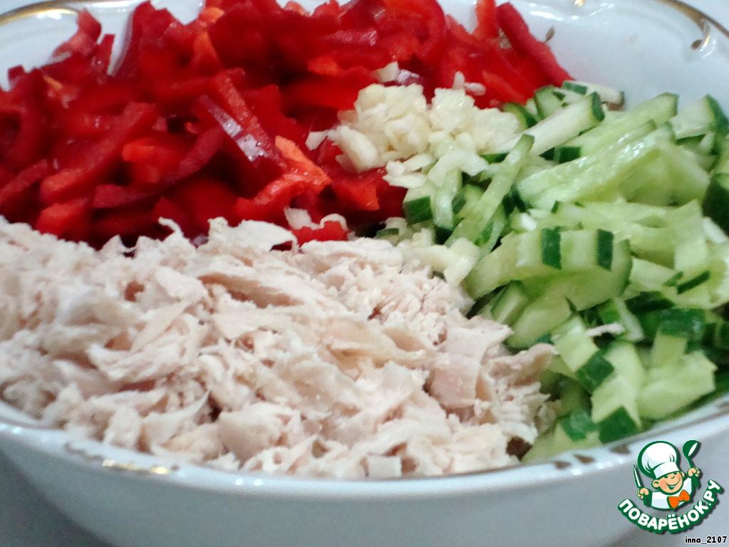 Салат из куриной грудки и красной фасоли рецепт с очень вкусный