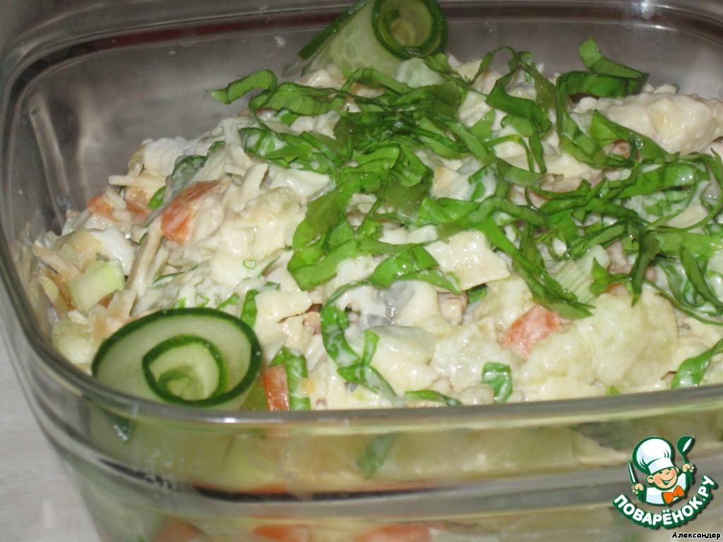 салат с вареной рыбой рецепт с фото