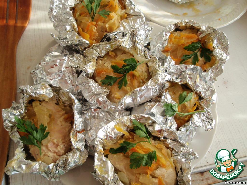 курица с овощами в духовке в фольге рецепты с фото