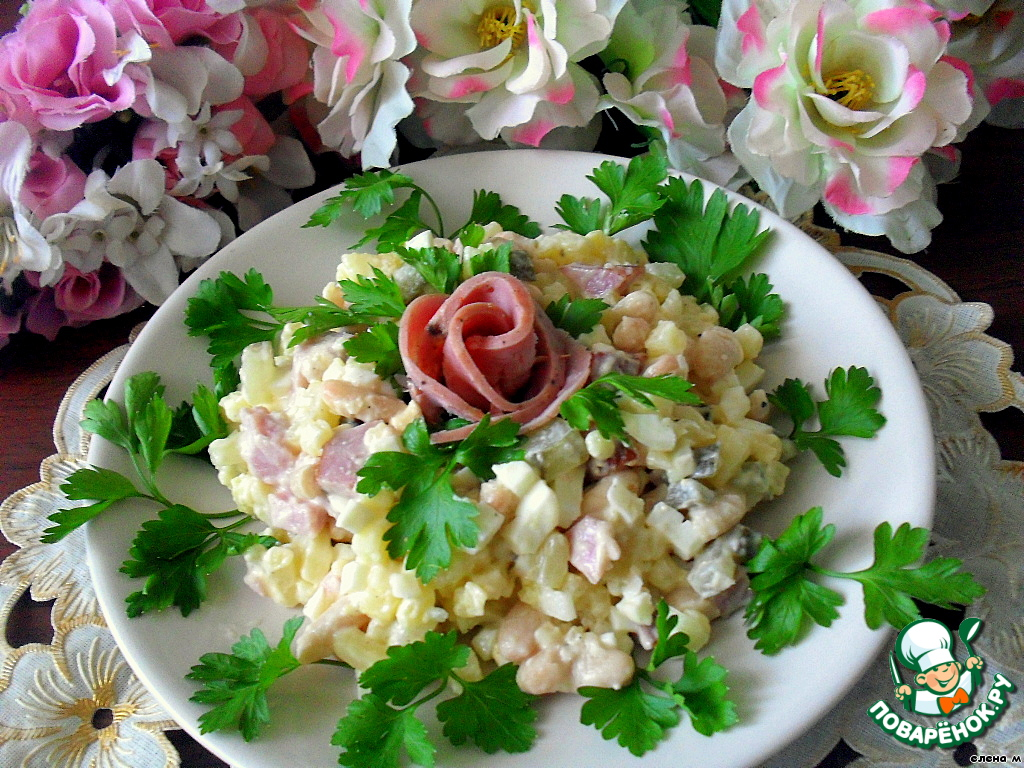 Салат белые розы рецепт 123