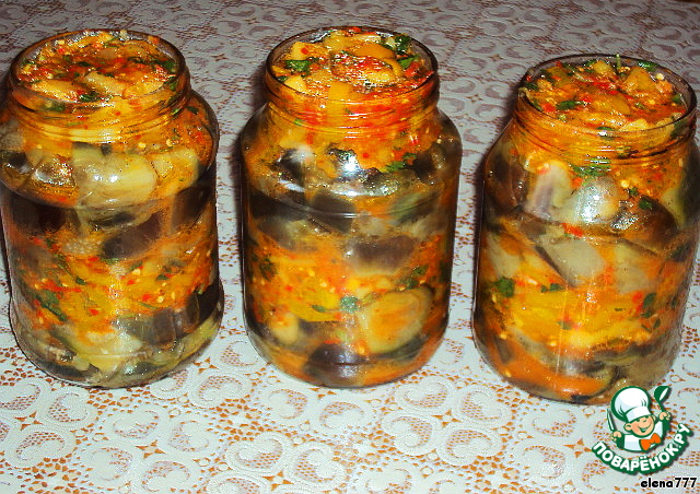 Баклажаны рецепты на зиму рецепт приготовления в домашних условиях 903