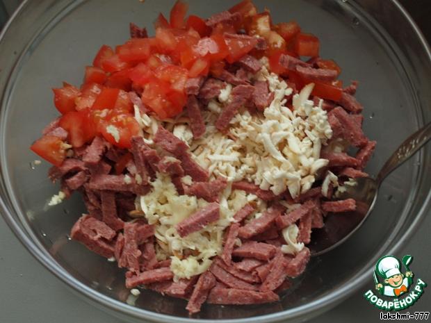 Салат с помидорами с калбосой с фото