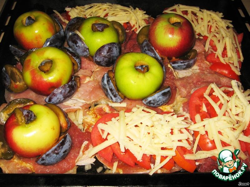 рецепт мясо в духовке с сыром и луком