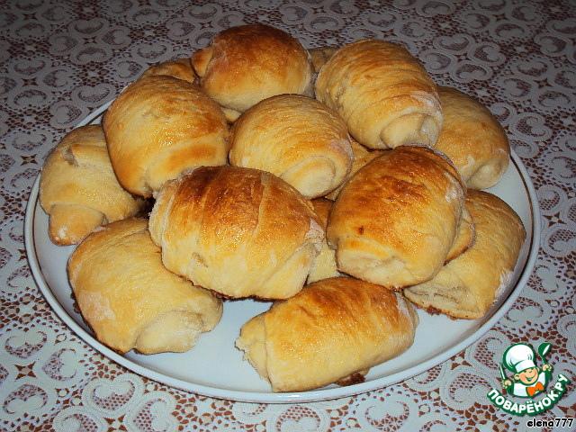 Булочки-рулетики к чаю простой рецепт приготовления с фотографиями пошагово #8