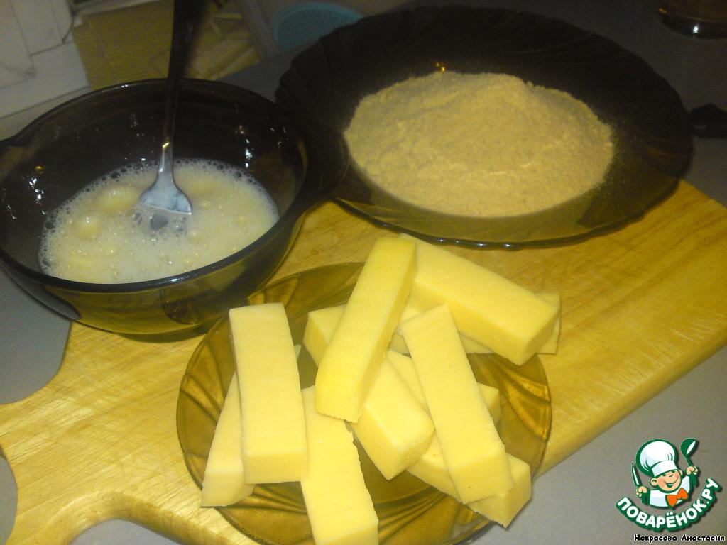 Как сделать сыр в сухарях