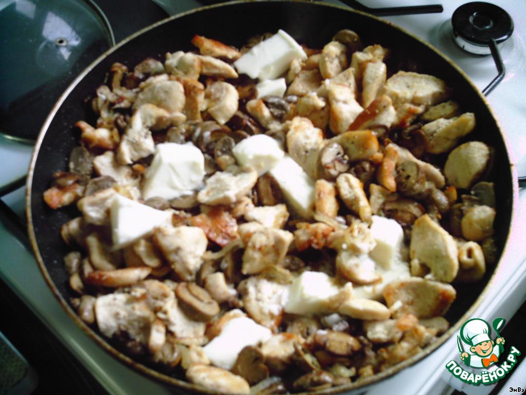 Куриное филе с грибами - кулинарный рецепт
