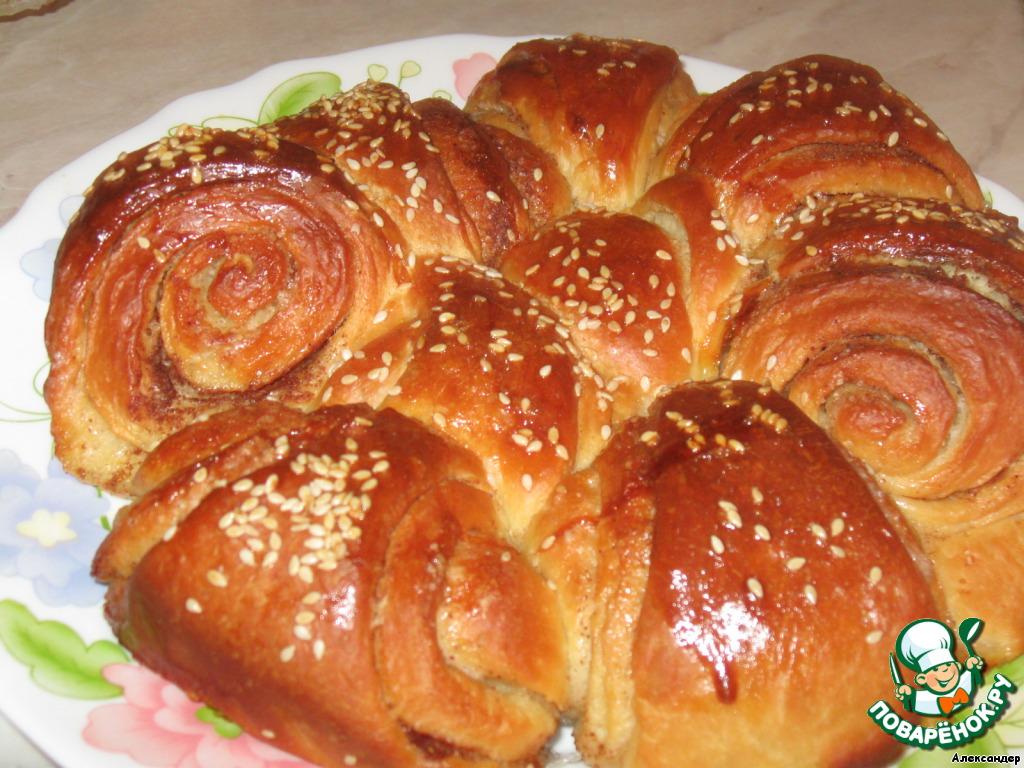 Как приготовить Булка-цветок с корицей домашний рецепт с фото пошагово #6