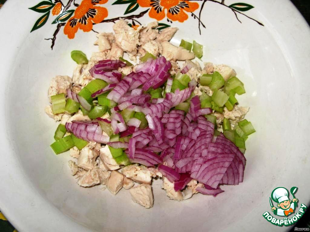 рецепт салата из сельдерея и винограда