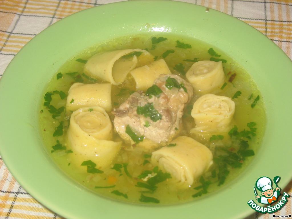 Рецепт из гречневой лапши с курицей