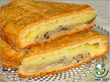 Пирог с картошкой и солеными грибами в духовке рецепт 185