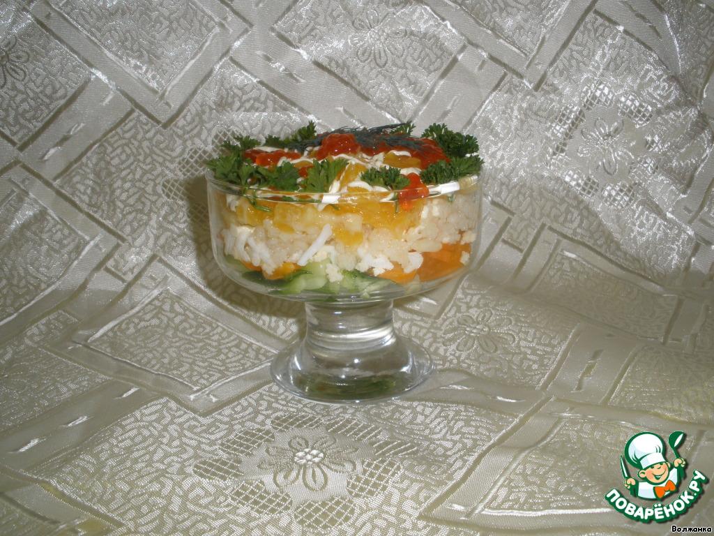 Салат мясо криля рецепт с