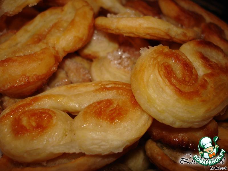 печенье из бездрожжевого слоеного теста рецепты с фото