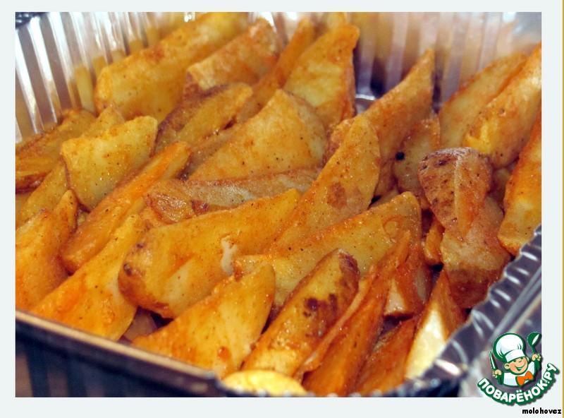 Замороженная картошка в духовке