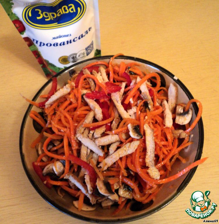 рецепт салата из корейской морковки