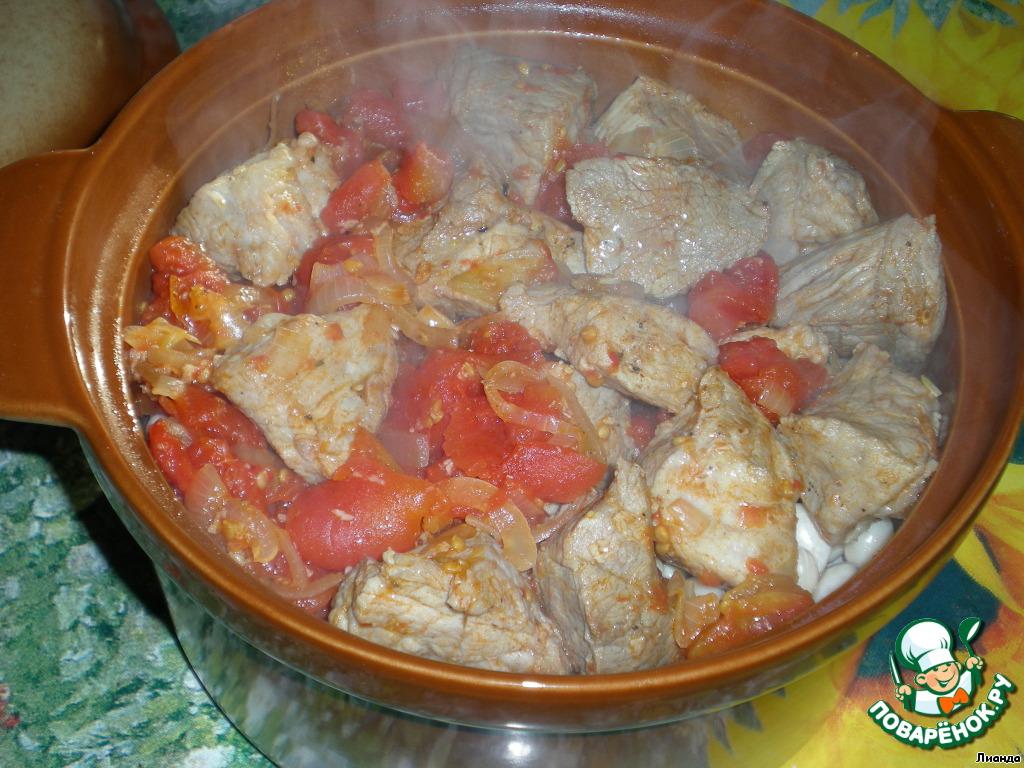 Фасоль с мясом в духовке рецепты с фото